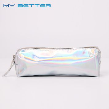 Rectangle PU Laser Womens Travel Cosmetic Bag High Quality Makeup Bag Neceser Luxury Cosmetic Bag