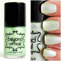 Pale Green Pearl Nail Polish