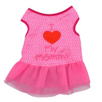 Cute Letter Printed Small Dog Tops Dog Cat Puppy Clothes T Shirt Dress Pet Costumes