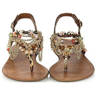 Boho Beach Thongs Sandals