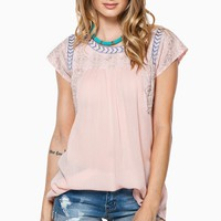 ShopSosie Style : Sweet Disposition Blouse in Pink