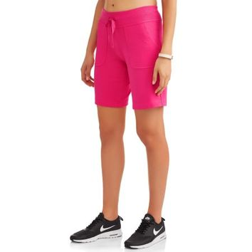 Women's Essential French Terry Bermuda Shorts - Walmart.com