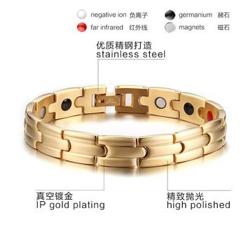Gift New Arrival Shiny Awesome Great Deal Hot Sale Stylish Titanium Men Strong Character Chain Gold Bracelet [10783261571]