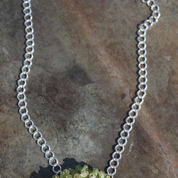 Citrine and Peridot River Birch Tree of Life Pendant on Sterling Silver brings the Blessings of Abundance, Prosperity, Happiness, and Joy