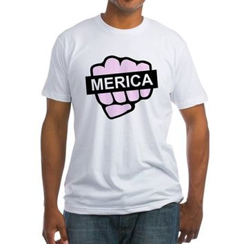 Fist Full of Merica Fitted T-Shirt