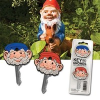 Garden gnome style Gnomes Key Car House Cap Covers Identifiers Novelty