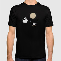Bunnies on the Moon T-shirt by lalainelim