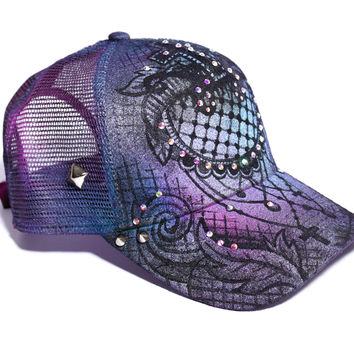 Sweet Desires - Lace inspired snapback hat