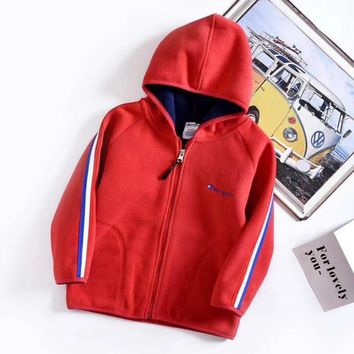 Champion Girls Boys Children Baby Toddler Kids Child Fashion Casual Cardigan Jacket Coat