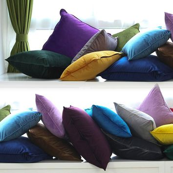 Multicolor Soft Pillow Cover