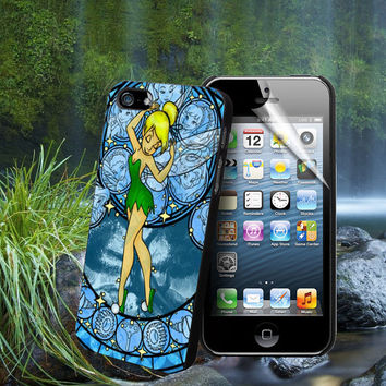 disney Tinkerbell Stained Glass - For Samsung Galaxy S3 / S4 and IPhone 4 / 4S / 5 / 5S / 5C Case