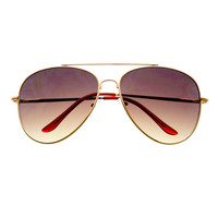 Stylish Large Metal Pilot Aviator Sunglasses Shades A1600