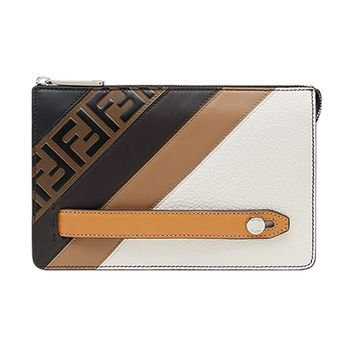 Zip Monogram Clutch Bag by Fendi