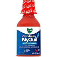 Vicks Children's Nyquil Cold & Cough Relief Liquid, Cherry, 8 fl oz - Walmart.com