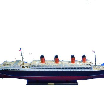 "RMS Mauretania Limited 50"" w/ LED Lights Model Cruise Ship"