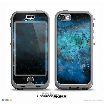 The Blue and Teal Painted Universe Skin for the iPhone 5c nüüd LifeProof Case