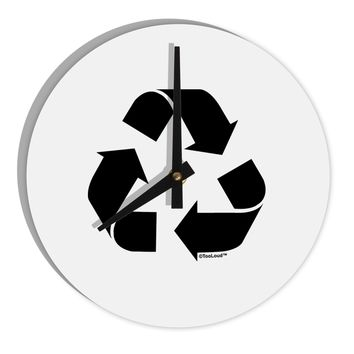 "Recycle Black and White 8"" Round Wall Clock  by TooLoud"