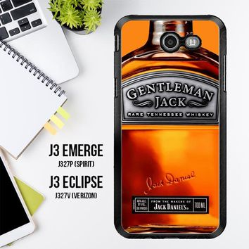 Gentleman Jack Daniels Rare Tennessee Whiskey L2167 Samsung Galaxy J3 Emerge, J3 Eclipse , Amp Prime 2, Express Prime 2 2017 SM J327 Case