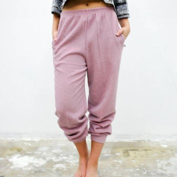 vtg 90's retro pink sweat pants, faded sweatpants, 1990s activewear sweats, vintage, tumblr urban soft grunge vaporwave aesthetic fashion