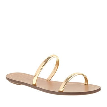 J.Crew Womens Isla Metallic Slides