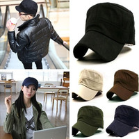 Stylish Plain Men's Military Army Cap Castro Cadet Patrol Cap Hat Adjustable = 1651454148