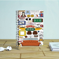 Collage Central Perk Photo Notebook Auroid