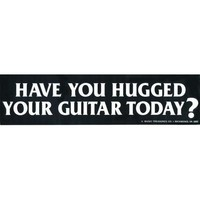 Have You Hugged Your Guitar? Bumper Sticker