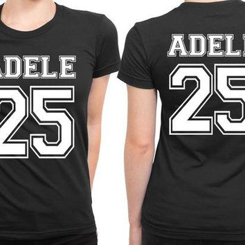 DCCKG72 Adele 25 Old School Title33 2 Sided Womens T Shirt