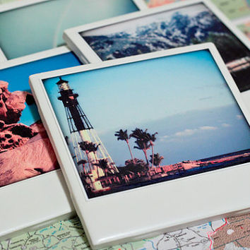 Polaroid Coaster Scenic Photo Set
