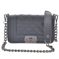Luxury Quilted Chain Clutch