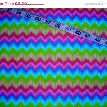 Flannel fabric with tie dye die Chevron zig zag design cotton quilting sewing material by the yard