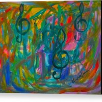 Treble Play Canvas Print / Canvas Art by Kendall Kessler