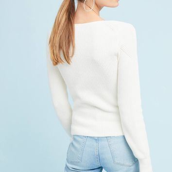 Wrapped V-Neck Sweater