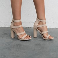 Get You Alone Banded Nude Heel