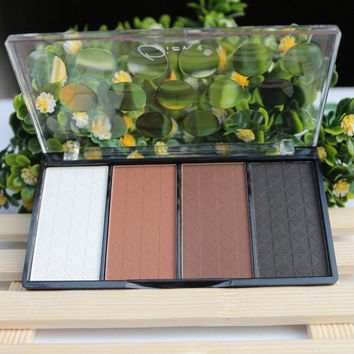 4 Colours Shadow Highlight Concealer Pressed Powder Palette
