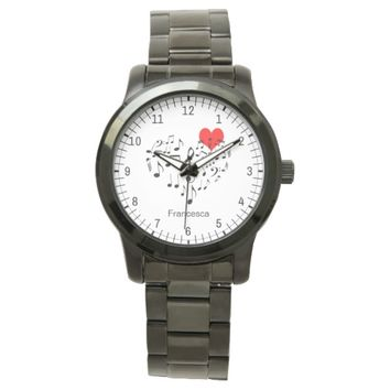 The Singing Heart romantic funny Wrist Watch