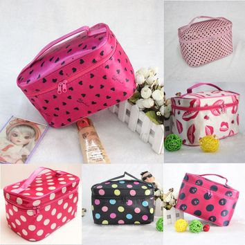 1PCS Waterproof Cosmetic Bags Bath Wash Makeup Make Up Cosmetic Bag Korean Organizer Storage Travel Toiletry Bags