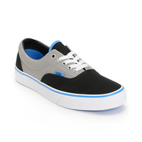 Vans Era Black, Grey, & Blue Skate Shoe at Zumiez : PDP
