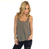 Keep It Real Top In Olive