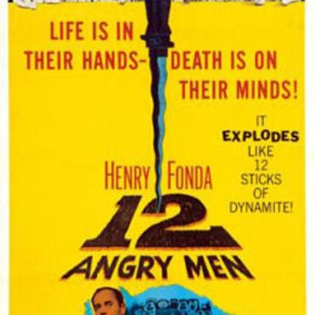 Twelve Angry Men Vintage Movie Poster