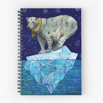 Stellar Edge - Spiral Notebook /// Polar Bear Notebook, Animal Notebook, Art Notebook, Art Planner, Lined Notebook, Journal Notebook