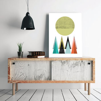 INSTANT DOWNLOAD, Abstract art Triangles Poster Geometric art poster Minimal Modern Scandinavian Nordic Style Abstract Digital poster print.