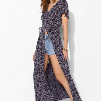 Band Of Gypsies Boho-Print Maxi Shirt - Urban Outfitters
