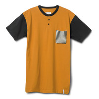 Krochet Kids intl. Goldenrod Pocket Henley Tee Yellow M