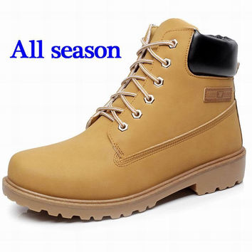 Super Warm Men's Winter Leather Boot 4 colors with/without Fur