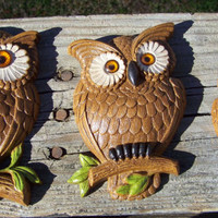 Vintage Burwood Products Owl Trio 2718-1Wall Hanging---1985--Made in USA--Bird--Retro Wall Decor--My Vintage Home