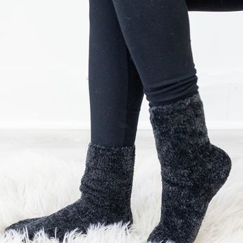 Cozy Toes Socks - Black