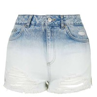 MOTO Acid Wash Dip Dyed Mom Short - Shorts - Clothing