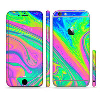 The Neon Color Fusion V3 Sectioned Skin for Most Mobile Devices (Choose your device)