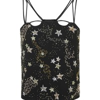 Star Embroidered Crop Camisole Top | Topshop